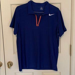 Blue Zipper front, net back Nike Polo